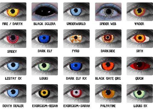kontaktne leće u boji