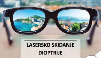 Laserski skinite dioptriju do 31.08. i poklanjamo vam polarizirane sunčane naočale