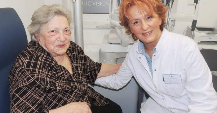 Naša pacijentica kojoj smo uspješno operirali mrenu u 100-toj godini života
