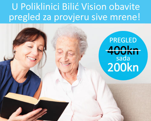 U Poliklinici Bilić Vision obavite pregled za provjeru sive mrene